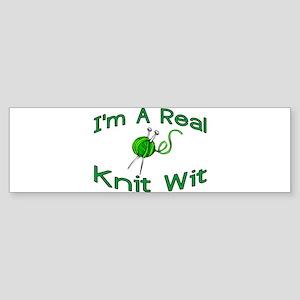 Knit Wit Bumper Sticker