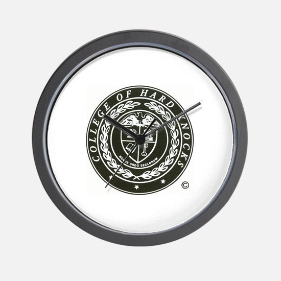 Cute College of hard knocks Wall Clock