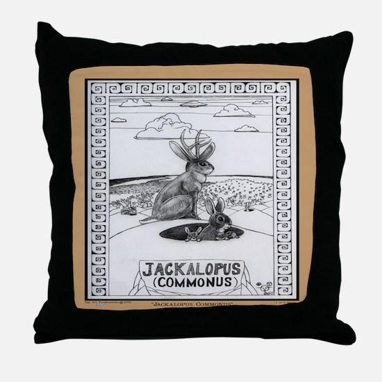 Jackalope Common Throw Pillow