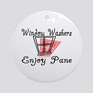 Window Washer Pane Ornament (Round)