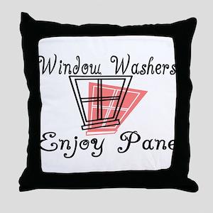 Window Washer Pane Throw Pillow