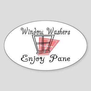 Window Washer Pane Oval Sticker