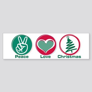 Peace Love Christmas Bumper Sticker