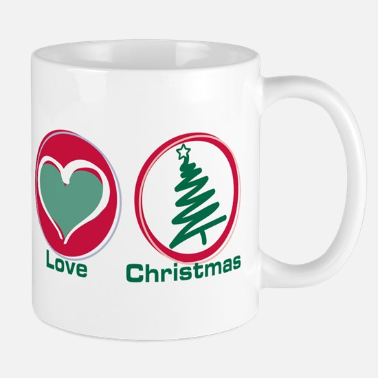 Peace Love Christmas Mug