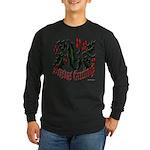 Christmas Holly Long Sleeve Dark T-Shirt