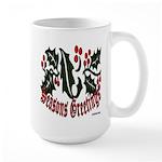 Christmas Holly Large Mug