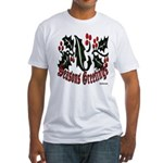 Christmas Holly Fitted T-Shirt