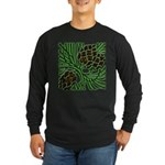 Christmas Pine Cones Long Sleeve Dark T-Shirt