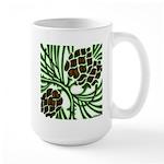 Christmas Pine Cones Large Mug
