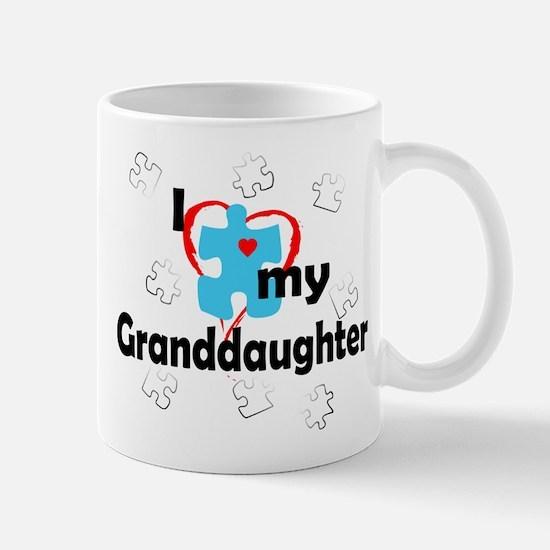 I Love My Granddaughter - Autism Mug