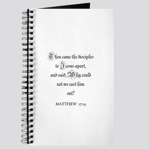 MATTHEW 17:19 Journal