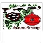 Christmas Red Ball Yard Sign