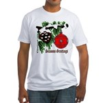 Christmas Red Ball Fitted T-Shirt