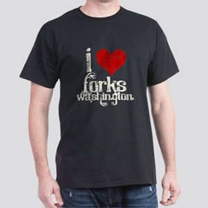 I Love Forks Washington Dark T-Shirt