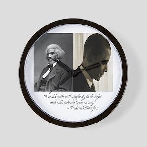 Douglass-Obama Wall Clock