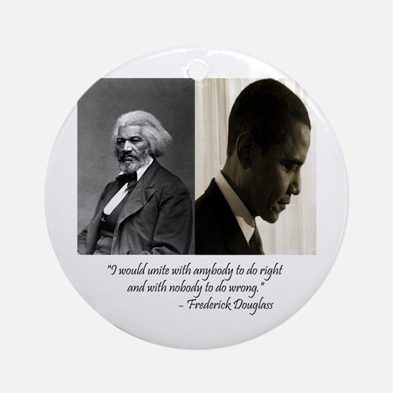 Douglass-Obama Ornament (Round)