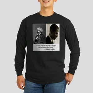 Douglass-Obama Long Sleeve Dark T-Shirt