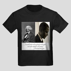 Douglass-Obama Kids Dark T-Shirt