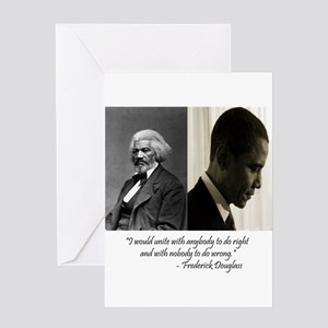 African american greeting cards cafepress douglass obama greeting card m4hsunfo