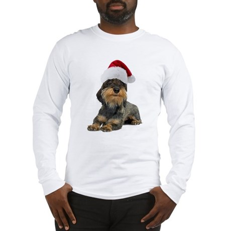 Wirehaired Dachshund Christmas Long Sleeve T-Shirt