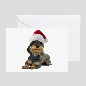 Wirehaired Dachshund Christmas Greeting Cards (Pk