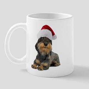 Wirehaired Dachshund Christmas Mug