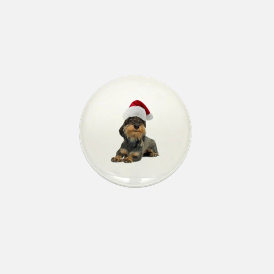 Wirehaired Dachshund Christmas Mini Button