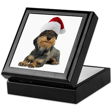 Wirehaired Dachshund Christmas Keepsake Box