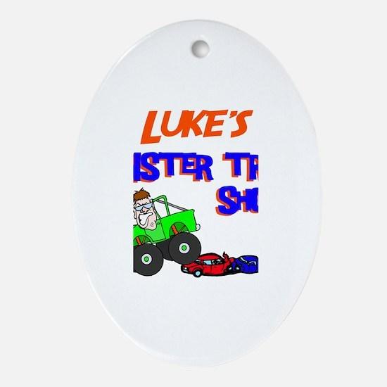 Luke's Monster Truck Oval Ornament