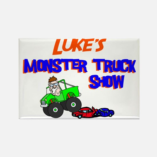 Luke's Monster Truck Rectangle Magnet