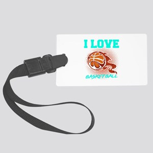 Basketball Sports Player I Love Large Luggage Tag