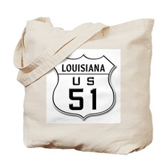 Hold Everything! LA HWY 51 Tote Bag