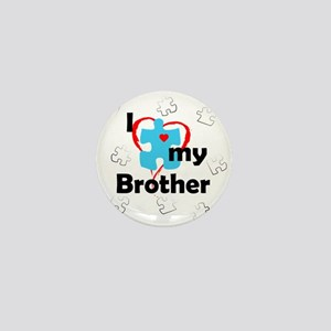 I Love My Brother - Autism Mini Button