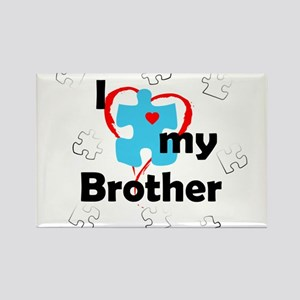 I Love My Brother - Autism Rectangle Magnet