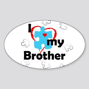 I Love My Brother - Autism Oval Sticker