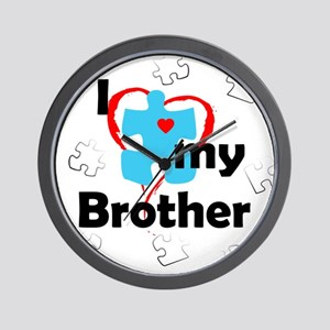 I Love My Brother - Autism Wall Clock