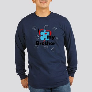 I Love My Brother - Autism Long Sleeve Dark T-Shir