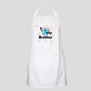 I Love My Brother - Autism BBQ Apron