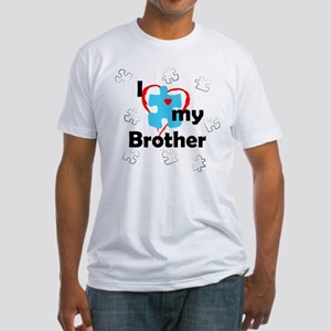 I Love My Brother - Autism Fitted T-Shirt