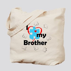 I Love My Brother - Autism Tote Bag
