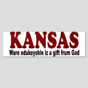 Kansas Education Bumper Sticker