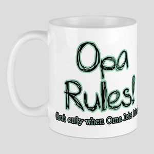 Opa Rules when Oma Lets Him Mug