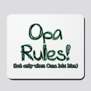 Opa Rules when Oma Lets Him Mousepad