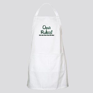 Opa Rules when Oma Lets Him BBQ Apron