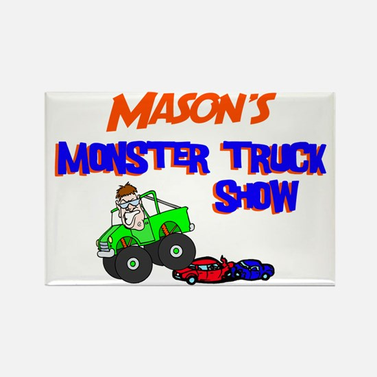 Mason's Monster Truck Rectangle Magnet