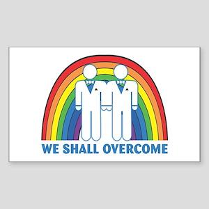 We Shall Overcome (Male) Rectangle Sticker