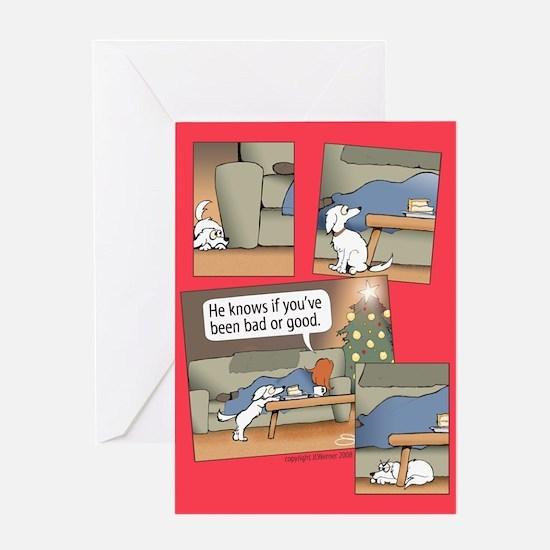 """Bad or Good"" Greeting Card"