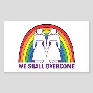 We Shall Overcome (Female) Rectangle Sticker