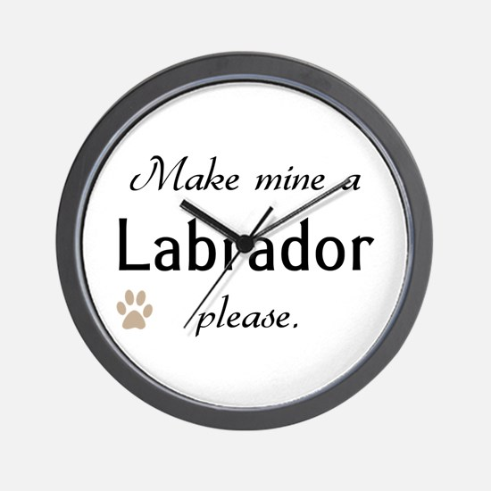 Make Mine Labrador Wall Clock