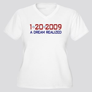 1-20-2009 Obama Dream Realized Women's Plus Size V